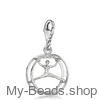 """My-Beads Charm 619 """"Wheel gymnastics"""" Material: 925 Sterling Silver My-Beads Sterling Silver Charm with Lobster Clasp. The perfect sport jewelry gift for a gymnast. #MyBeadsSport #WheelGymnastics #Gymnast #Gymnastics"""