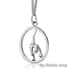 My-Beads Sterling Silver pendant 446 Rhythmic Gymnastics Ball Size: 22 mm Sterling Silver pendant, Materials: Sterling Silver / 925 Perfect sport jewelry gift for a gymnast. #MyBeadsSport #Rhythmic Gymnastics #RG #Ball #Floor