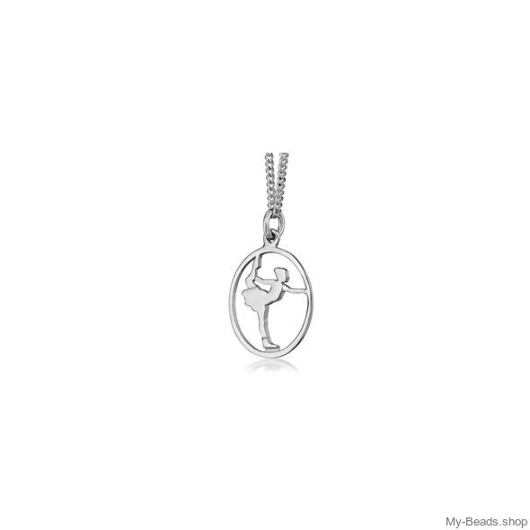 """My-Beads Sterling Silver pendant 444 """"Figure Skating"""" Size: 18 mm Sterling Silver pendant, """"Figure Skating"""" NEW Materials: Sterling Silver / 925 Perfect sport jewelry gift. #MyBeadsSport #Sportgift #FigureSkating #IceSkating"""