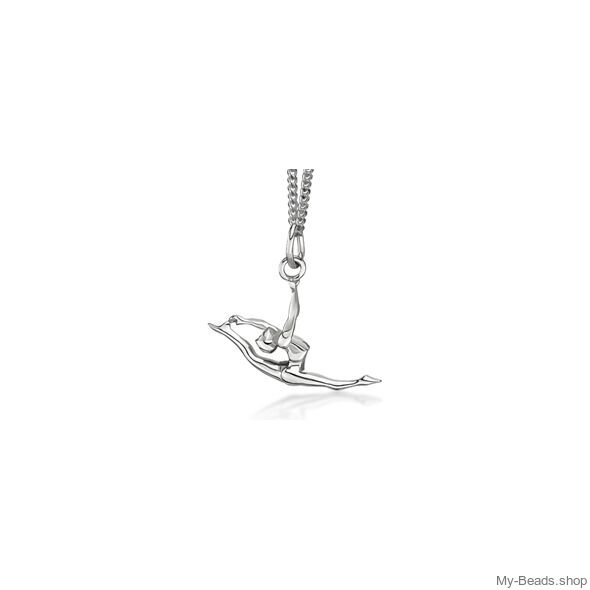 My-Beads Sterling Silver pendant 448 Split Leap / Jump Size: 18 mm Materials: Sterling Silver / 925 Perfect sport jewelry gift for a gymnast. #MyBeadsSport #Rhythmic Gymnastics #RG